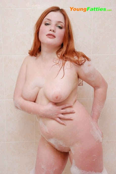Something and young chubby redhead