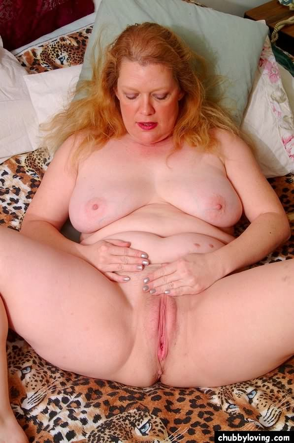 The bbw redhead spreading wide open theme