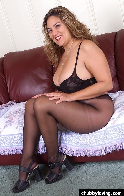 Chubby in pantyhose